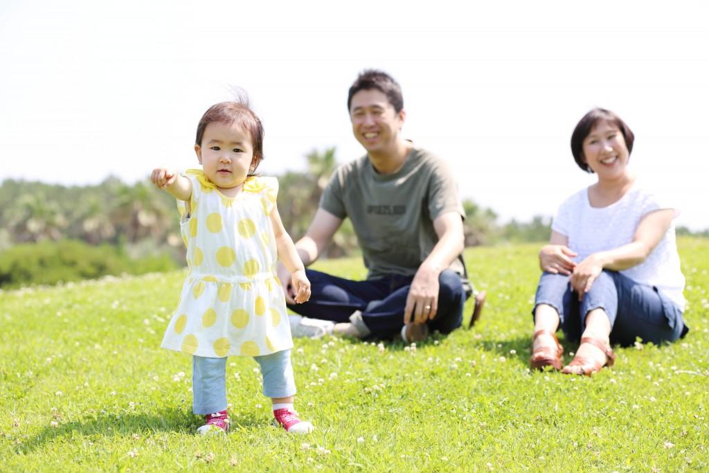 ナチュラル家族写真 公園編