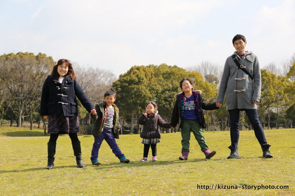 家族写真 大仙公園