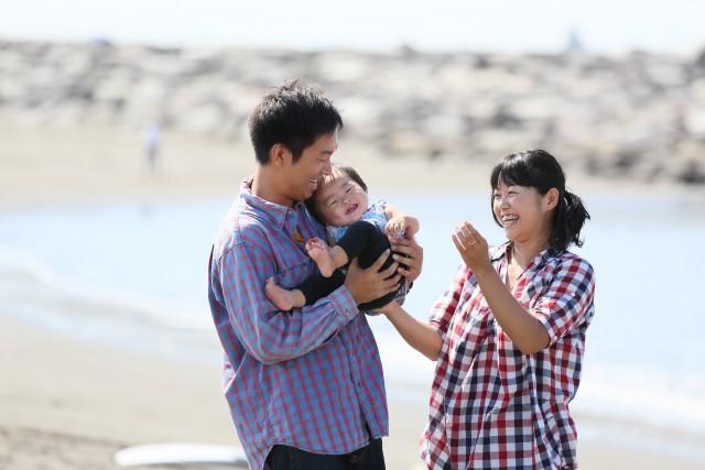 家族写真 海