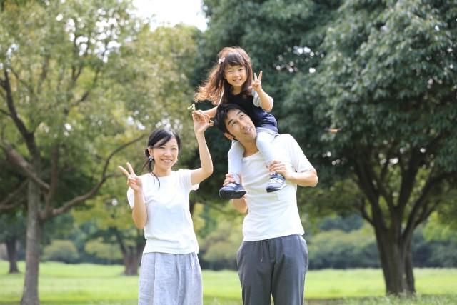 家族写真/公園