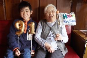 ひ孫とおばあちゃん